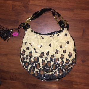 Like new large Betsy's Johnson sequins purse